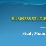 Business studies study module