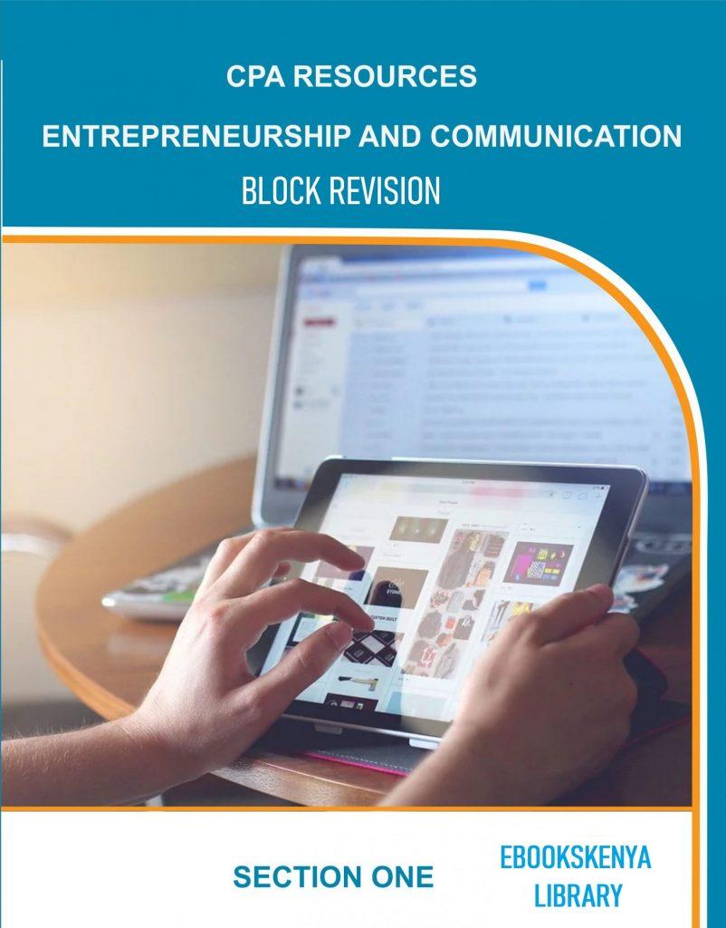 Entrepreneurship and Communication Block Revision Mock Exams