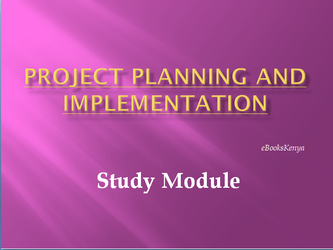 Project Planning And Implementation