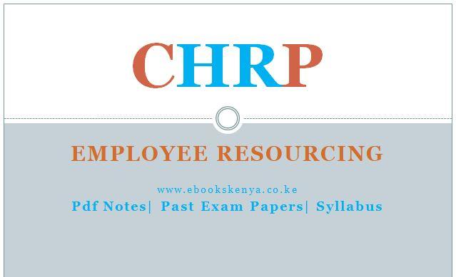 Employee Resourcing, Pdf notes, Past exam Papers, syllabus