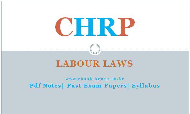 Labour Laws Pdf notes, Past papers, Syllabus