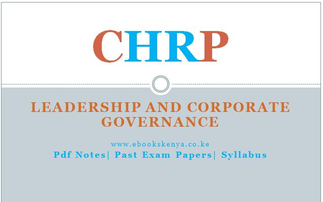 Leadership and Corporate Governance Pdf notes, Past papers, syllabus